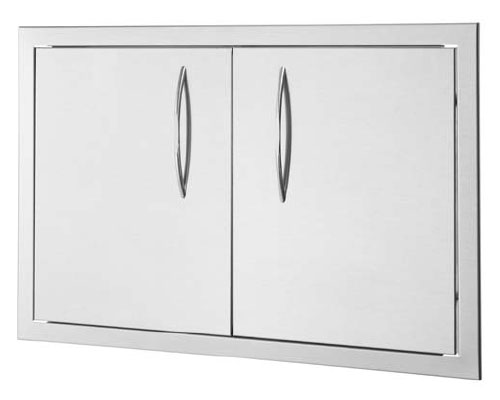 26 x 20 Double Stainless Steel Outdoor Kitchen and Cabinetry Access Door Assembly