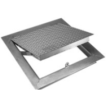 "Floor Access Door - FA-300 48"" x 48"" Angle Frame, Aluminum, Double Leaf"