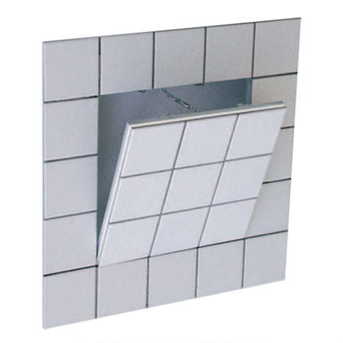 Access Door - System F3  8x8 Tile-able Access Panel, recessed, removable, for tiles