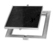Floor Access Door - FT-8080  8x8 Recessed for Tile, Carpet or Concrete, Removable Cover, Aluminum