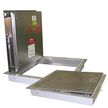 B-FTRM 2hr / B-FTCM 3hr Fire-Rated, Recessed Floor Door, Aluminum