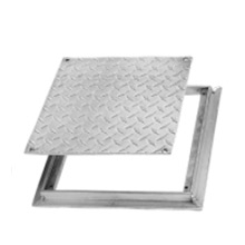 FD-8060 Flush Diamond Plate, Removable Cover Floor Access Door, Aluminum
