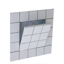 "System F3 - Non-hinged, Removable, Recessed for 1/2, 5/8 and 1"" inch backboard for tiling"