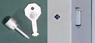 Knurled Knob and Flush Key for E-FRC doors